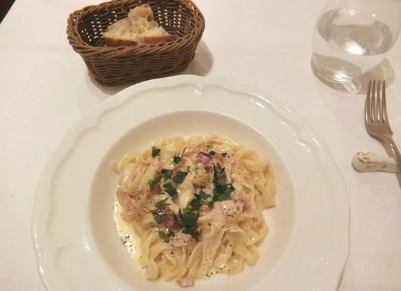 麻布十番「La Pastaione ラ・パスタイオーネ」ランチ クリームソース フィットチーネ