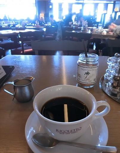 六本木ヒルズ「RIGOLETTO BAR&GRILL リゴレット バー&グリル」ランチコーヒー