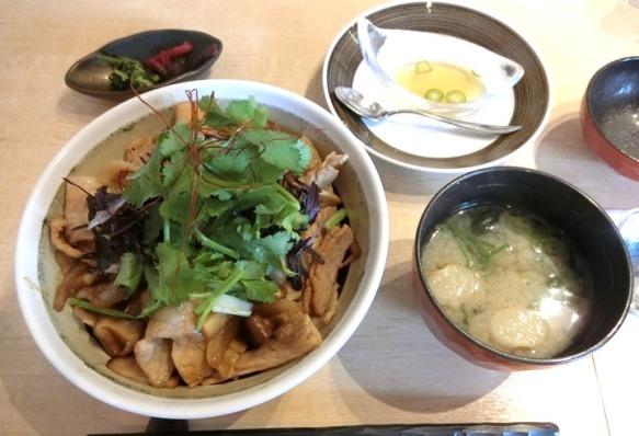 麻布十番「嘉 YOSHI」ランチ 豚丼アジアンスタイル