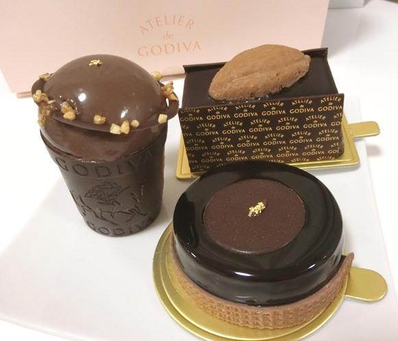 西武池袋「ATELIER de GODIVA アトリエ ドゥ ゴディバ 」ケーキ クープショコラ