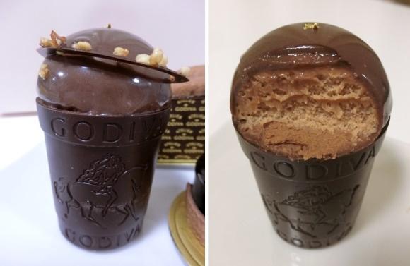 西武池袋「ATELIER de GODIVA アトリエ ドゥ ゴディバ 」ケーキ クープショコラ中身