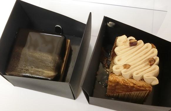 リッツカールトン東京 La boutique ラ・ブティック ケーキ コーヒーマンゴータルト ミルフィーユ