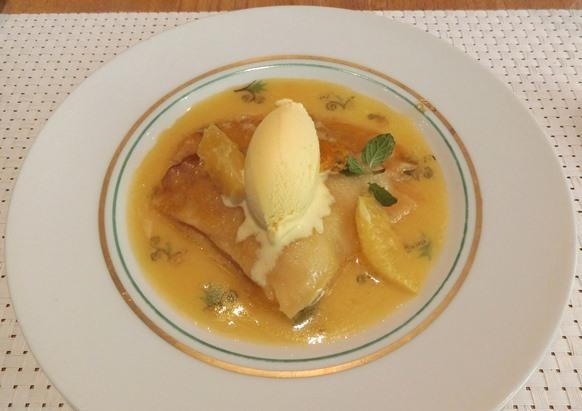丸の内 mikuni ミクニ マルノウチ 東京野菜の旬づくし デザート クレープシュゼット